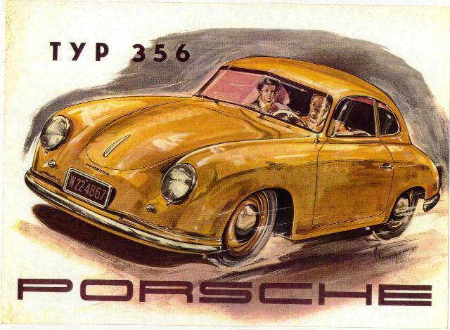 publicidad del Porsche 356