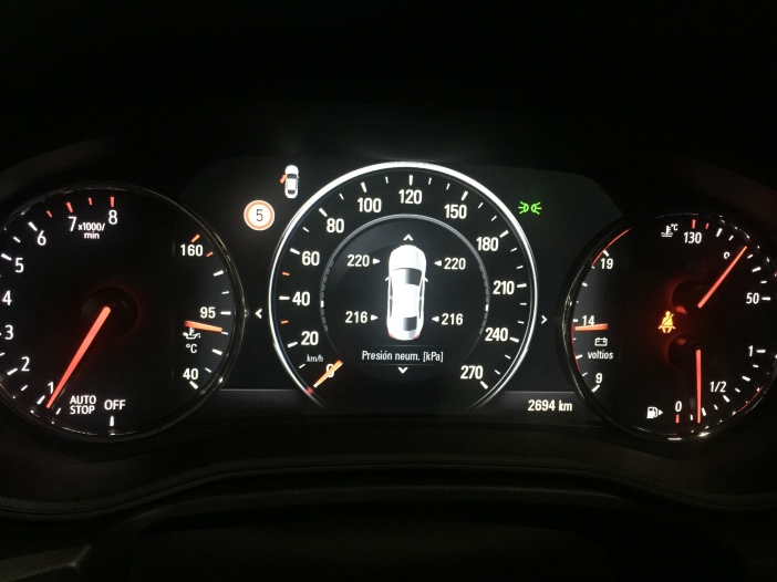 Indicador presiones neumáticos OPEL Insignia Grand Sport 1.5 Turbo 165 CV