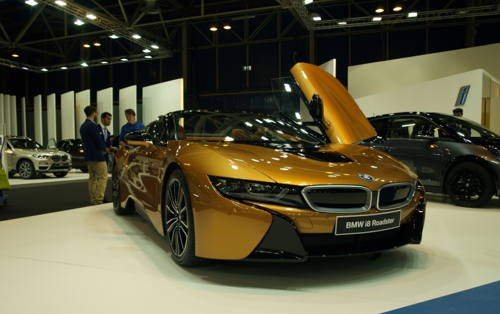 BMW i8 Roadster Stand BMW Salon Madrid Auto 2018